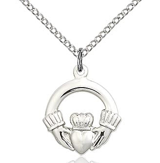 "Claddagh Pendant with 18"" Chain"