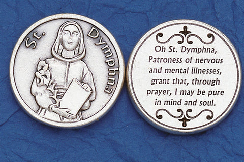 St. Dymphna / Mental Illness Pocket Token