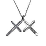 """Faith"" Twin Cross Necklace"