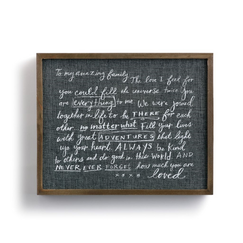 Family Love Letter Wall Art