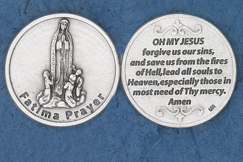Fatima Prayer Pocket Token