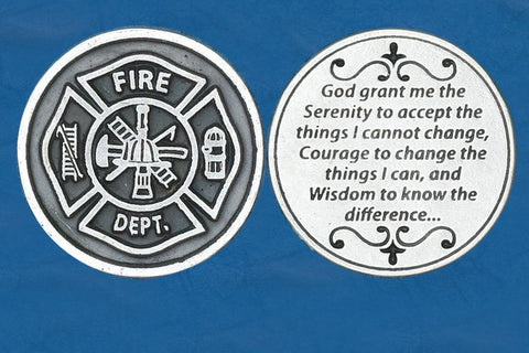 Fireman / Serenit Prayer Pocket Token