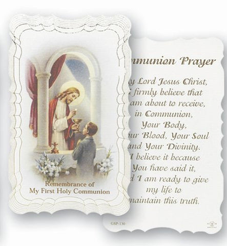 Communion Holy Card - Boy