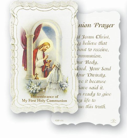 Communion Holy Card - Girl
