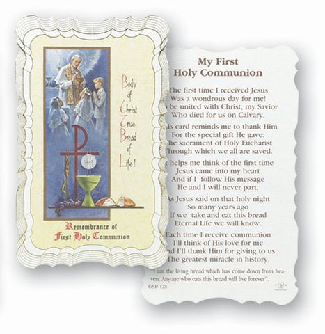 Communion Holy Card