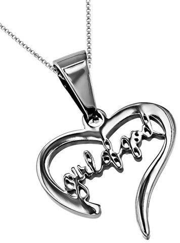 """Girl of God"" Heart Necklace"