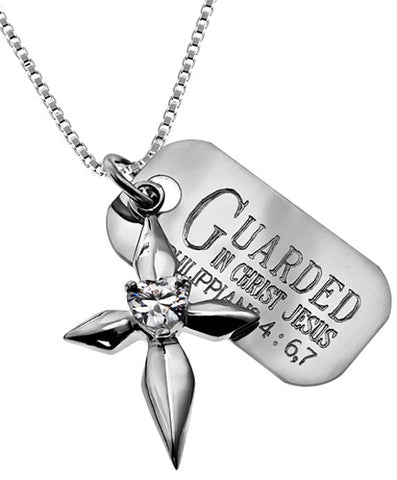 """Guarded In Christ Jesus"" Necklace"