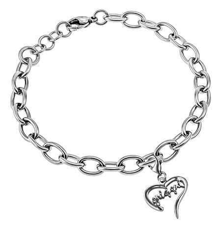 "Handwriting Heart Bracelet ""Girl Of God"""