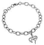 "Handwriting Heart Bracelet ""Hope"""
