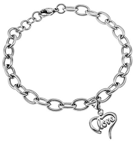 "Handwriting Heart Bracelet ""Love"""