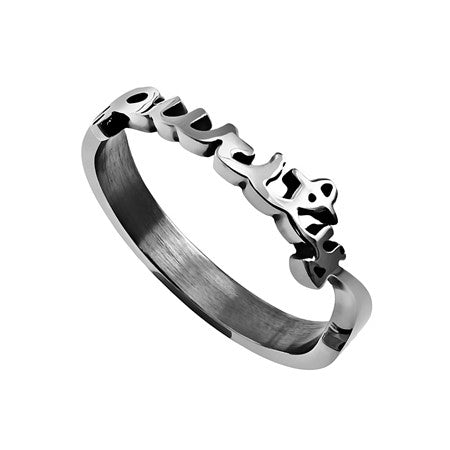 "Hand Writing Ring ""Purity"""