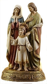 Holy Family on Pedestal w/Drawer