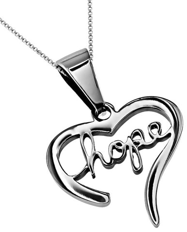 """Hope"" Heart Necklace"
