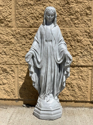 Our Lady of Grace Cement Statue 22""