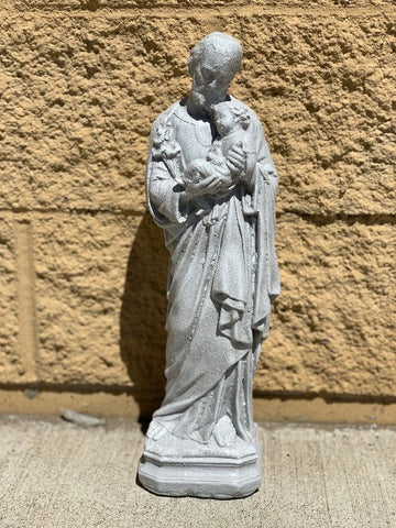 Joseph and Child Cement Statue 17""