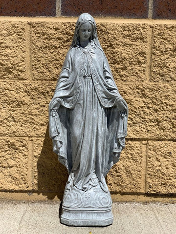 Our Lady of Grace Cement Statue 27""