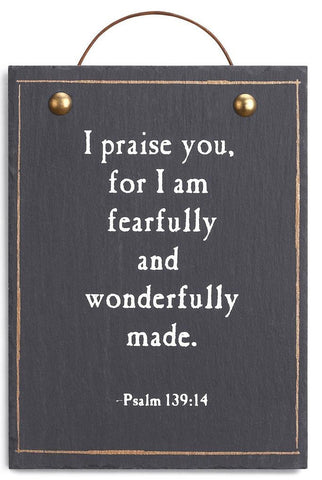 I Praise You Plaque
