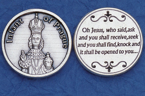 Infant of Prague Pocket Token