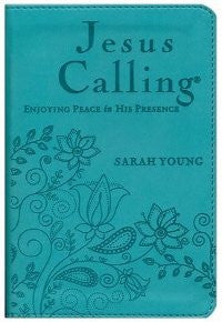 Jesus Calling, Deluxe Edition, Teal Imitation Leather