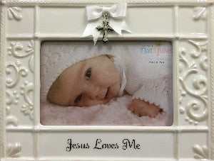 Jesus Loves Me Frame with Cross