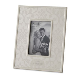 Just Married Ceramic Frame