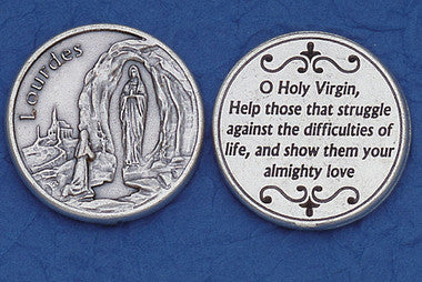 Lady of Lourdes Pocket Token