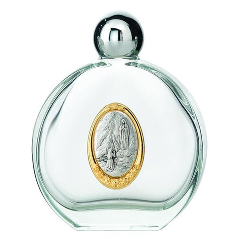 Lady of Lourdes Glass Holy Water Bottle 4oz