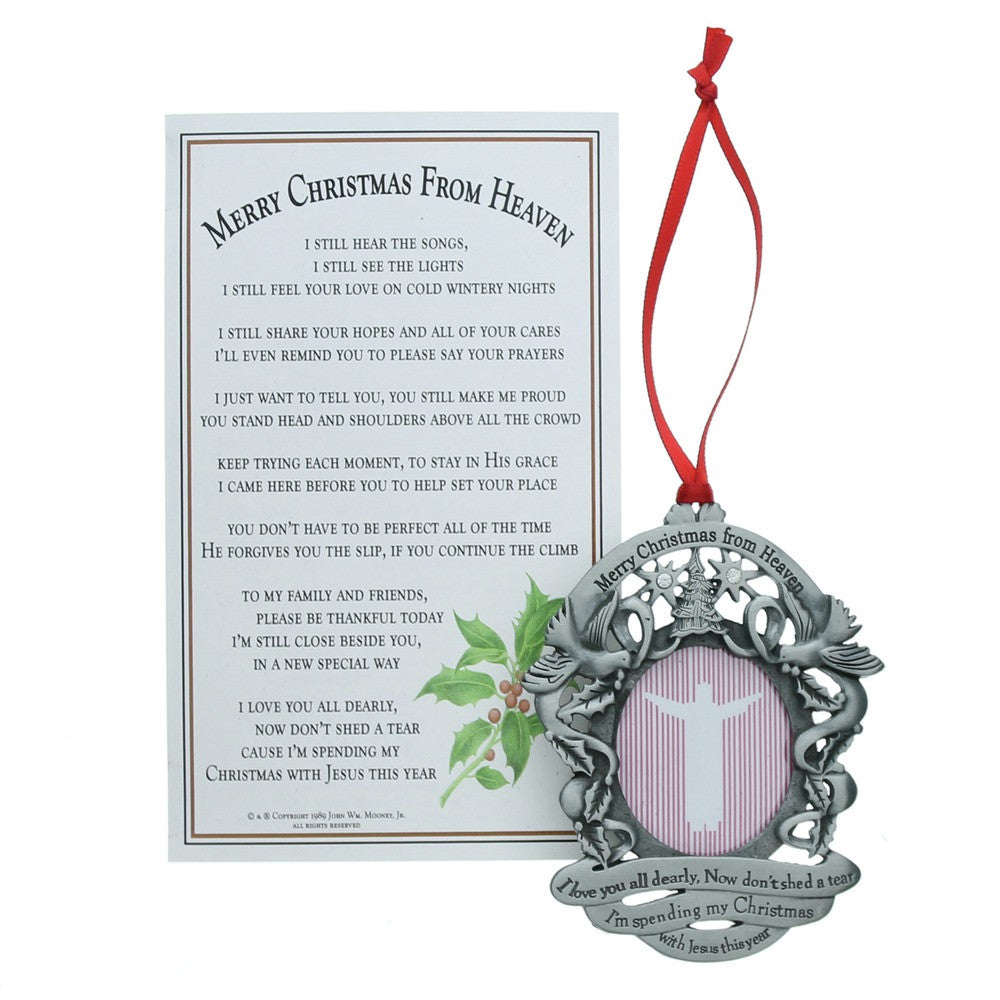 Christmas From Heaven.Merry Christmas From Heaven Photo Ornament