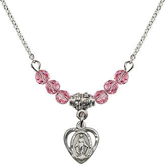 Miraculous Rose Bead Necklace
