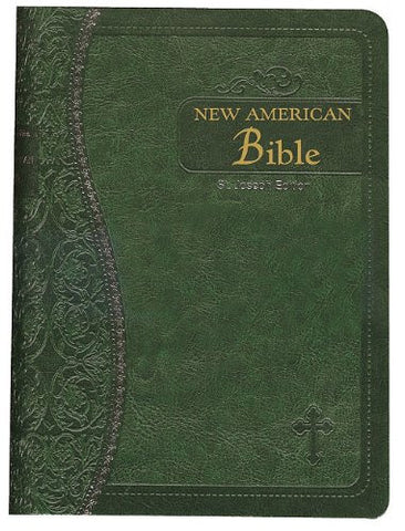 Saint Joseph Bible (NABRE) Green Bonded Leather