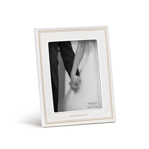 Our Wedding Day Ceramic Frame