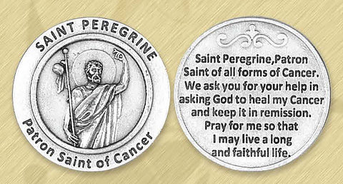 St. Peregrine / Cancer Pocket Token
