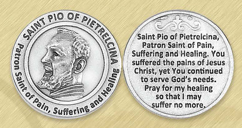 St. Pio / Suffering and Healing Pocket Token