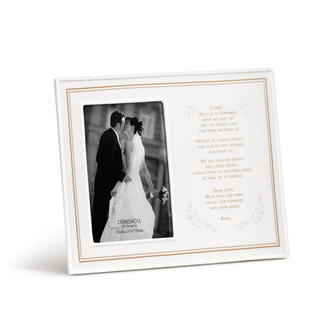 Wedding Prayer Ceramic Frame
