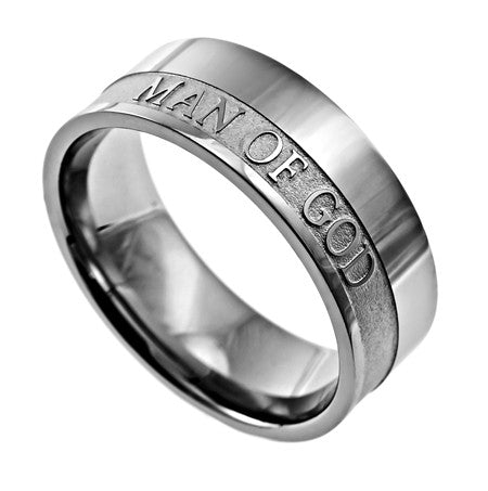 "Original Scripture Band Men's Ring ""Man of God"""