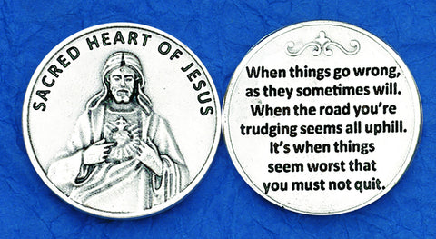 Sacred Heart / Don't Quit Pocket Token
