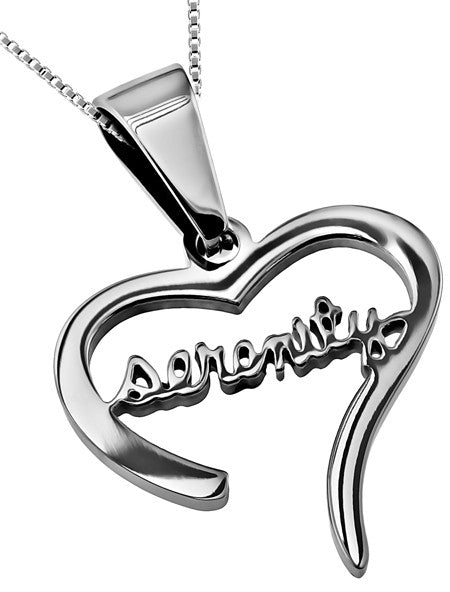 Serenity heart necklace st george serenity heart necklace aloadofball Image collections