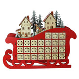 Light Up Sleigh Countdown Mini Drawer Calendar