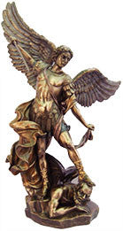 St. Michael Statue By Veronese, Bronze 14.5""