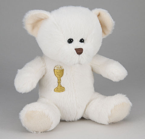 COMMUNION TEDDY BEAR WHITE