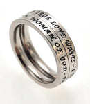 "Princess Stack Ring ""True Love Waits"""