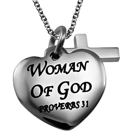 """Woman of God"" Sweetheart Necklace"