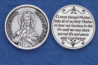 Immaculate Heart of Mary Pocket Token