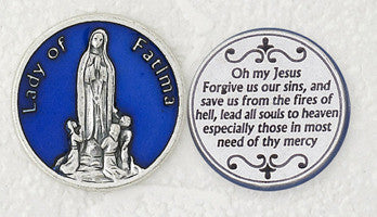 Lady of Fatima Pocket Token