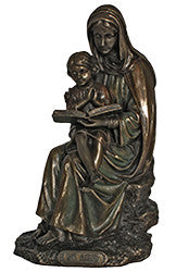 St. Anne with Mary, cold cast bronze, 7.5""