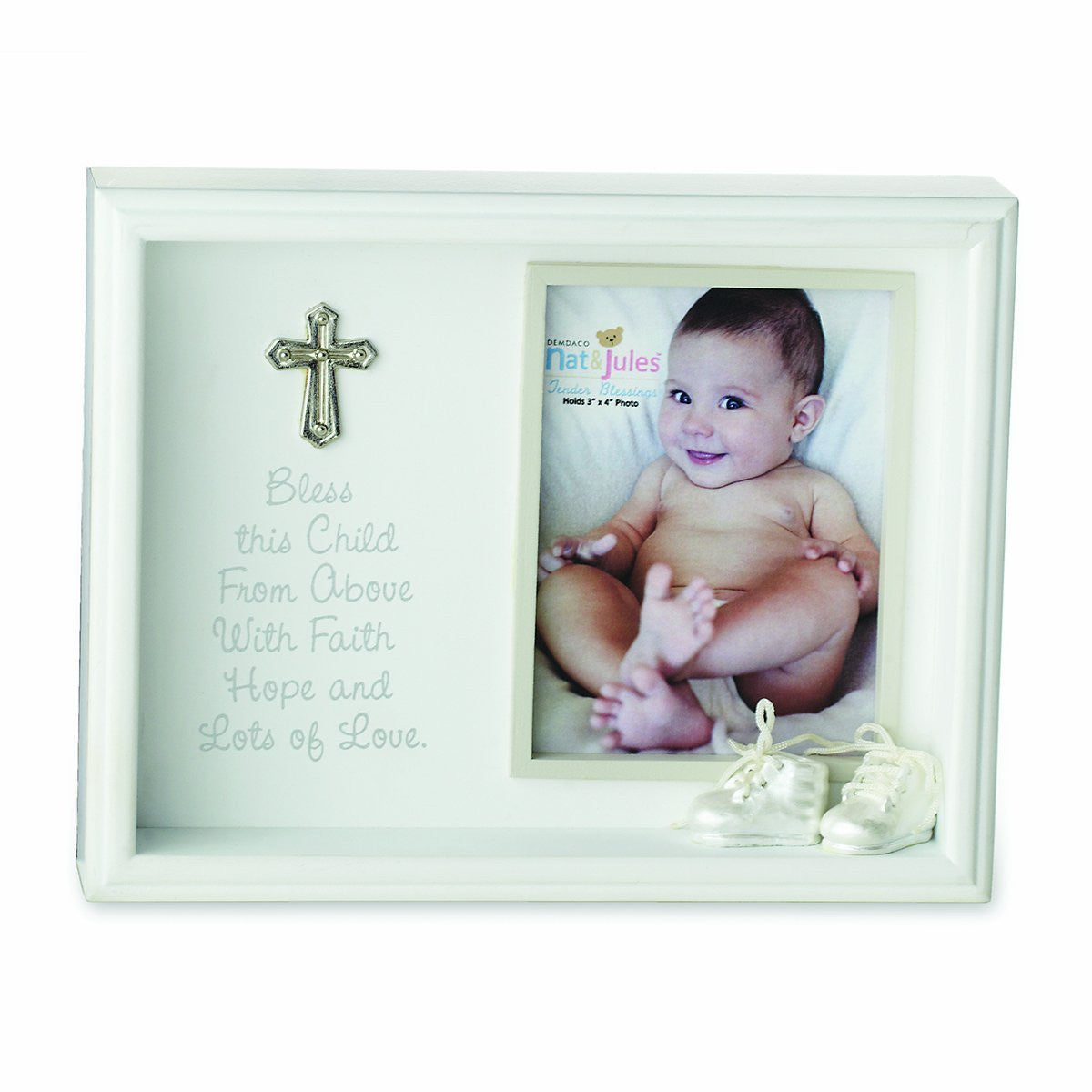 Baptism Blue Child Of God Customizable Snowflake Pewter: Bless This Child Shadow Box Frame