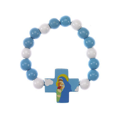 Mary with Jesus Wood Bracelet