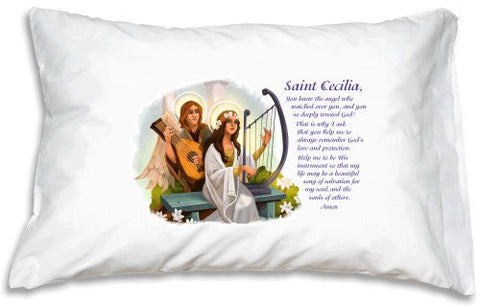 St. Cecilia Prayer Pillowcase