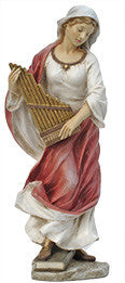 St. Cecilia, Hand-Painted Color, 8.5""