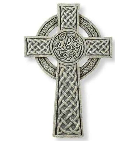 Irish Detailed Religious Celtic Wall Cross 9.5""